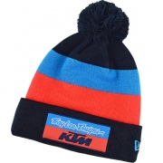 Troy Lee Designs Team KTM Navy Block Pom Beanie