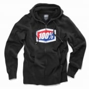 100% Official Black Zip Up Hoodie