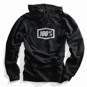 100% Essential Black Pull Over Hoodie