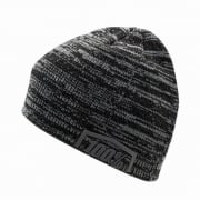 100% Essential Black Grey Beanie