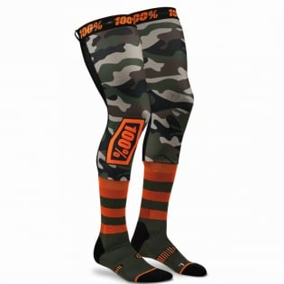 100% Rev Knee Brace Performance Moto Camo Socks