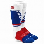 100% Kids Torque Moto White Socks
