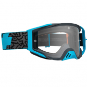 Spy MX Foundation Maze Blue HD Clear Lens Goggles