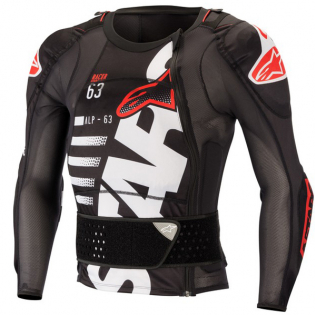 Alpinestars Sequence Level 1 Black White Red Protection Jacket