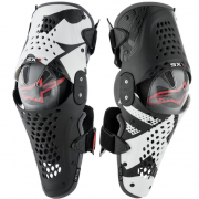 Alpinestars SX1 Black White Red Knee Guards