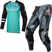 Seven MX Kids Annex Force Aqua Lite Black Kit Combo
