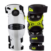 Mobius X8 Kids White Acid Yellow Knee Braces