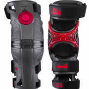 Mobius X8 Grey Crimson Knee Braces