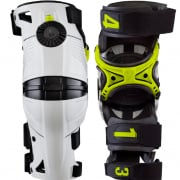 Mobius X8 White Acid Yellow Knee Braces