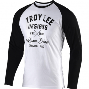 Troy Lee Designs Long Sleeve Shirt Vintage Raceshop White Black