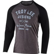 Troy Lee Designs Long Sleeve Shirt Vintage Raceshop Charcoal Black