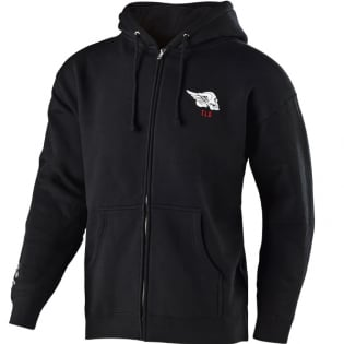 Troy Lee Designs Zip Up Hoodie Skully Black
