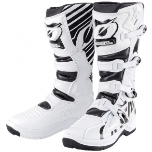 ONeal RMX White Black Motocross Boots