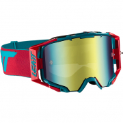 Leatt 6.5 Velocity Red Teal Bronze Iriz Lens Goggles