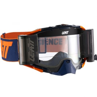 Leatt 6.5 Velocity Ink Orange Clear Lens Roll Off Goggles