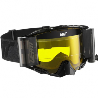 Leatt 6.5 Velocity Black Grey Yellow Lens Roll Off Goggles