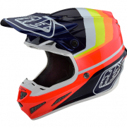 Troy Lee Designs SE4 Carbon Mirage Blue Red Helmet