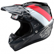Troy Lee Designs SE4 Unite Grey Black Composite Helmet