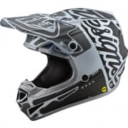 Troy Lee Designs SE4 Factory Silver Polyacrylite Helmet