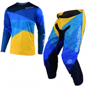 Troy Lee Designs GP Air Jet Yellow Blue Kit Combo