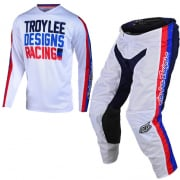 Troy Lee Designs Kids GP Air Premix 86 White Kit Combo