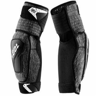 100% Fortis Grey Heather Elbow Guards