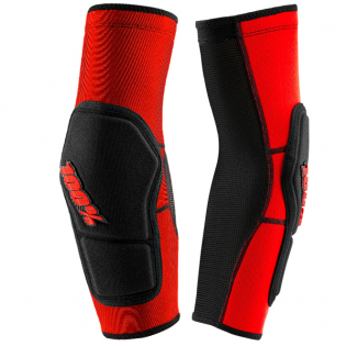 100% Ridecamp Red Black Elbow Guards