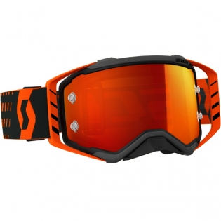 Scott Prospect Black Orange Chrome Goggles