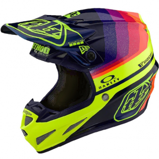 Troy Lee Designs SE4 Carbon Ltd Ed Mirage Navy Yellow Helmet