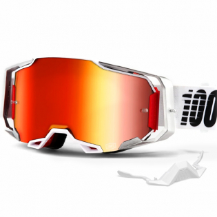 100% Armega Lightsaber Red Mirror Lens Goggles