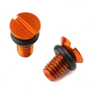 Zeta Front Fork WP Air Valve Cap - Orange