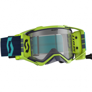 Scott Prospect WFS Blue Yellow Clear Roll Off Goggles
