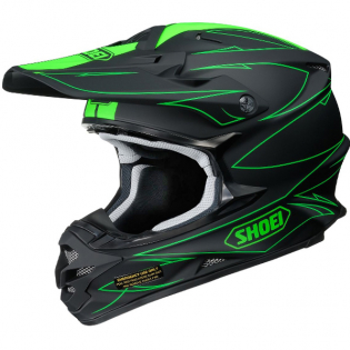 Shoei VFXW Hectic Matt Black Green TC4 Helmet