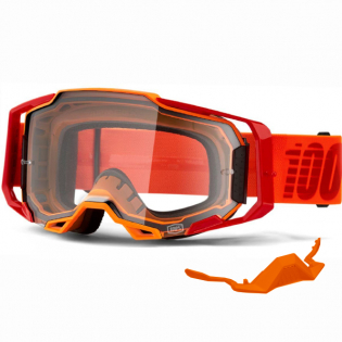 100% Armega LitKit Clear Lens Goggles