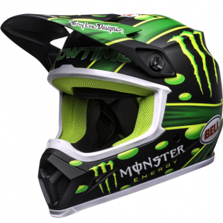 Bell MX9 MIPS Mcgrath Showtime Black Green Helmet