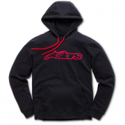 Alpinestars Blaze Fleece Black Red Hoodie
