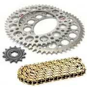 DID Suzuki Motocross Chain & Sprocket Set