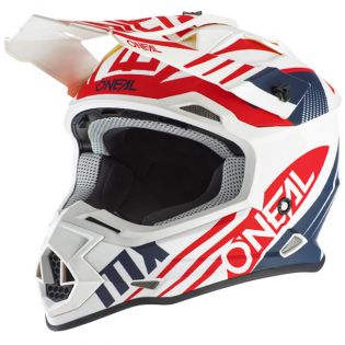 ONeal 2 Series Spyde 2.0 White Blue Red Helmet