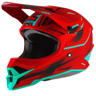 ONeal 3 Series Riff 2.0 Red Teal Motocross Helmet