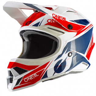 ONeal 3 Series Stardust White Blue Red Motocross Helmet