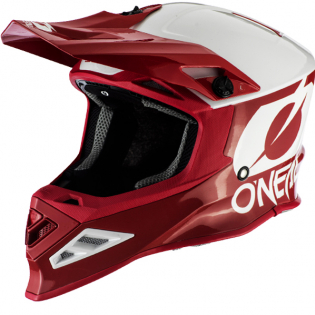 ONeal 8 Series 2T Red White Motocross Helmet