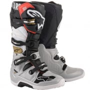Alpinestars Tech 7 Black Silver White Gold Boots