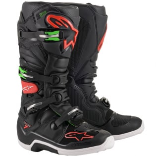 Alpinestars Tech 7 Black Red Green Boots