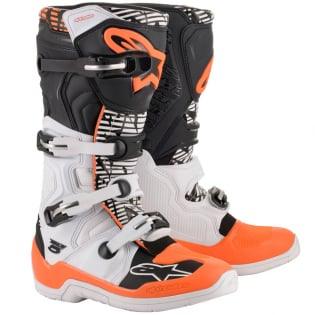 Alpinestars Tech 5 White Black Orange Fluo Boots