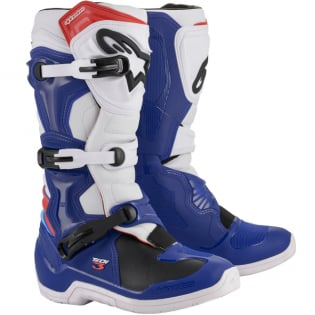 Alpinestars Tech 3 Blue White Red Boots
