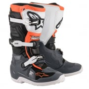 Alpinestars Kids Tech 7S Black Grey White Orange Flo Boots