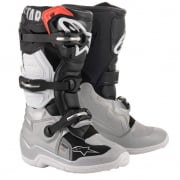 Alpinestars Kids Tech 7S Black Silver White Gold Boots