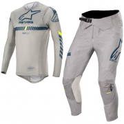 Alpinestars SuperTech Grey Navy Yellow Kit Combo