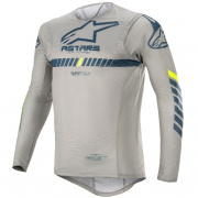 Alpinestars SuperTech Grey Navy Yellow Jersey