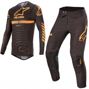 Alpinestars SuperTech Black Orange Red Kit Combo